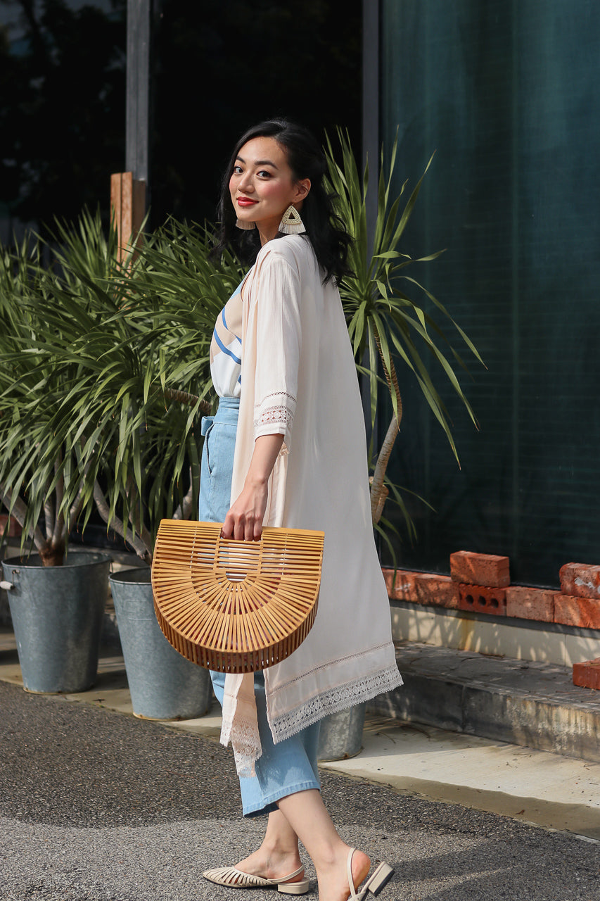 Backorder* Free Spirit Kimono Duster in Cream