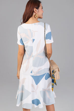 Gaia Tee Dress in Blue