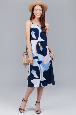 Forms & Figures Strappy Dress in Navy