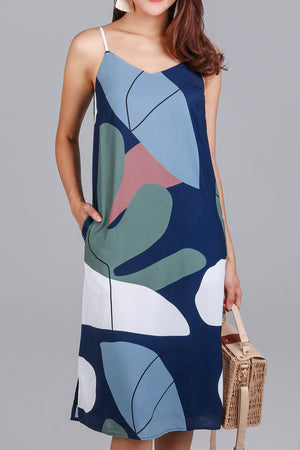 Coast to Coast Slip Dress in Navy