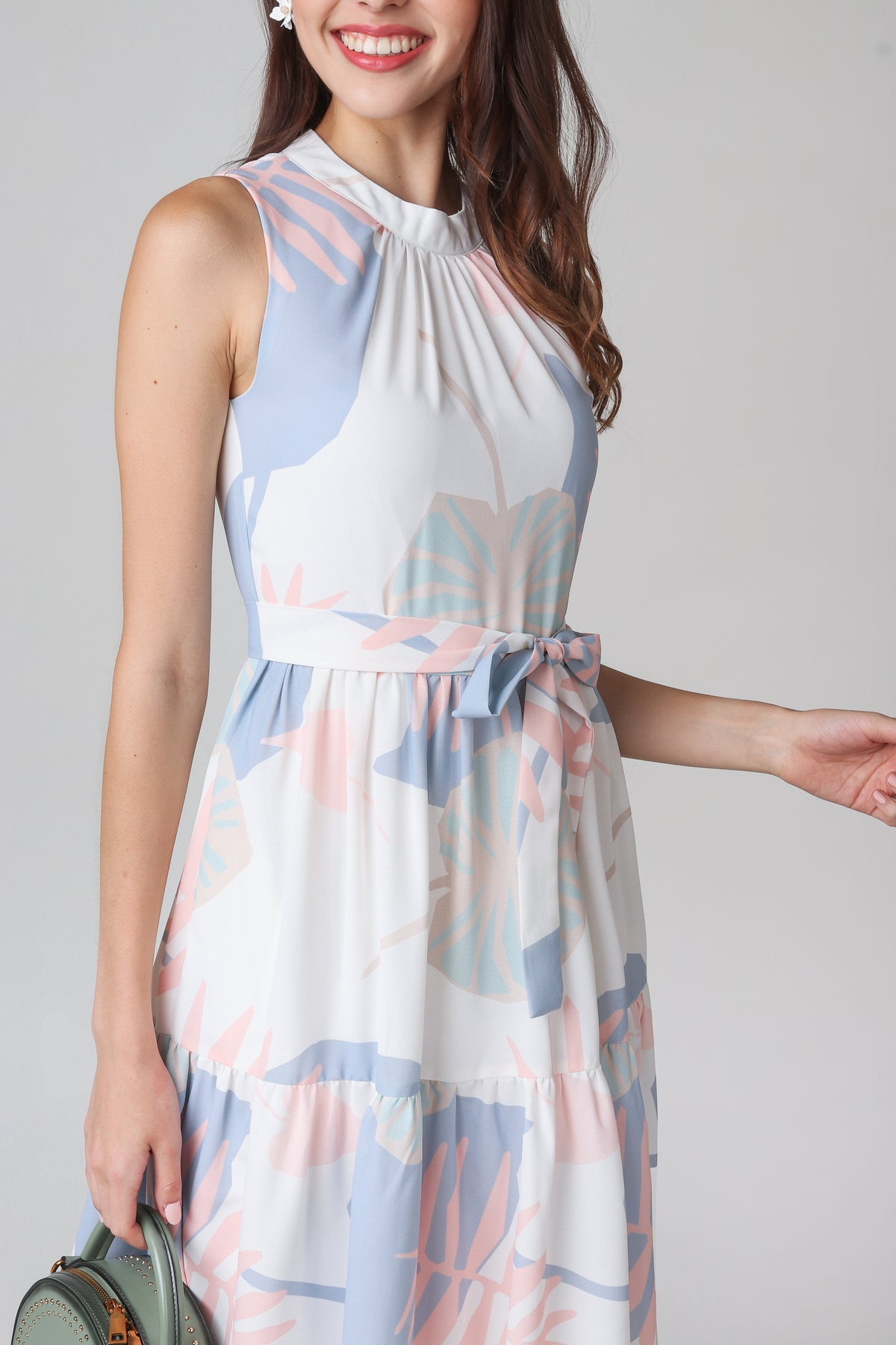 Paradise High-neck Dress in White