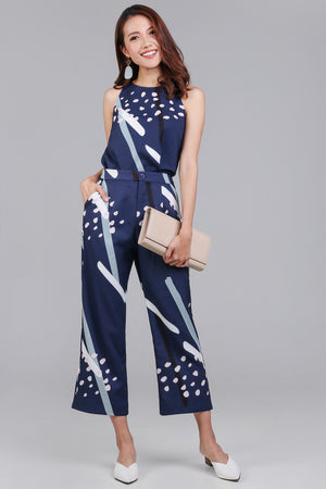 Restocked* Jubilee Graphic Culottes in Navy