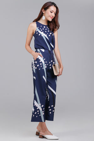 Backorder* Jubilee Graphic Culottes in Navy
