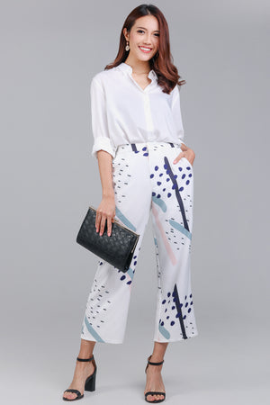 Jubilee Graphic Culottes in White