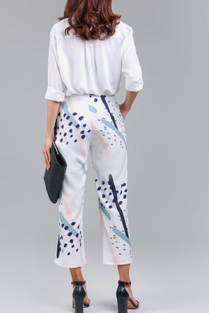 Restocked* Jubilee Graphic Culottes in White