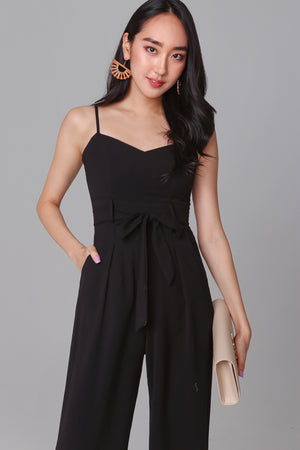Backorder* Tall Order Jumpsuit in Black