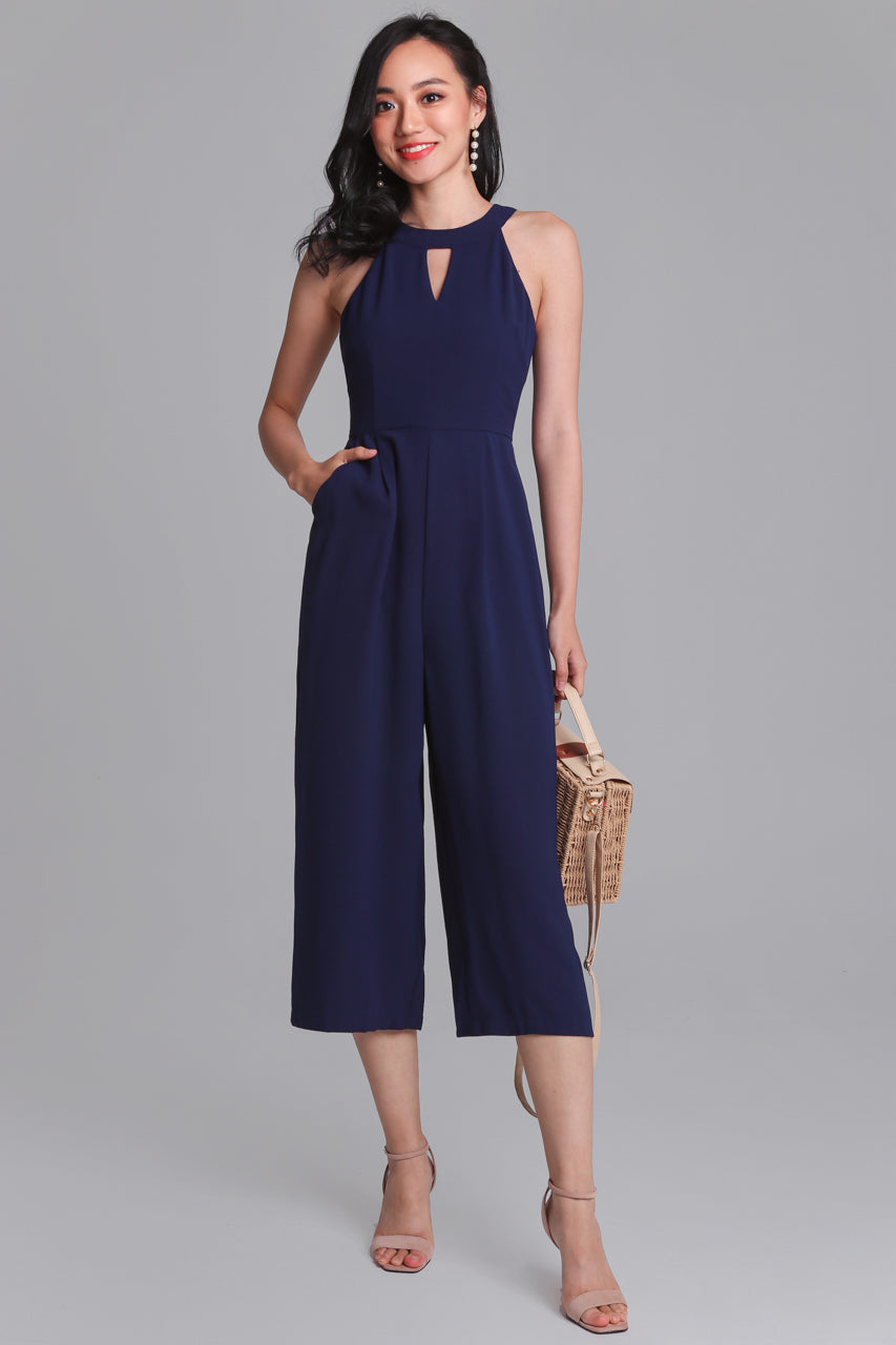 Classic Finesse Jumpsuit in Navy