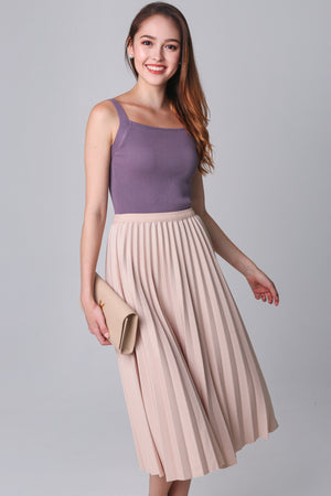 Restocked* Knit Cut-In Top in Lilac