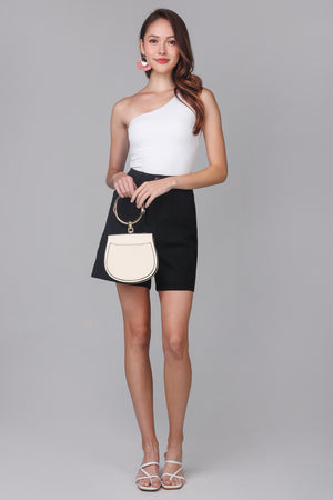 Longline Cuff Shorts in Black