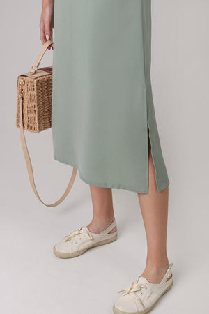 Backorder* Everyday Midi Dress in Sage (2-Way)