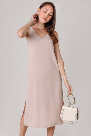Backorder* Everyday Midi Dress in Sand (2-Way)