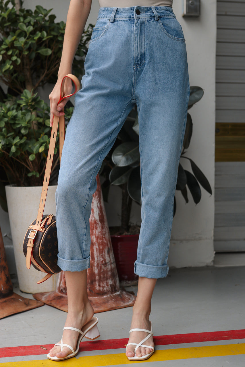 Restocked* Mum Jeans in Light Wash