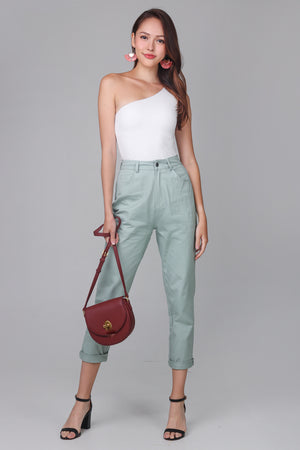 Restocked* Mum's Jeans in Sage