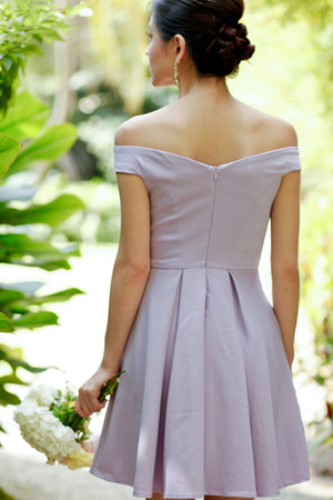 Restocked* Arianna Off-Shoulder Dress in Lilac