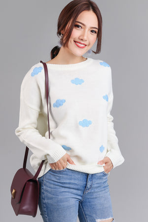 Restocked* On Cloud Nine Sweater in Cream