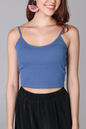 Padded Cami Top in Blue