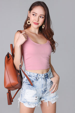 Padded Cami Top in Pink