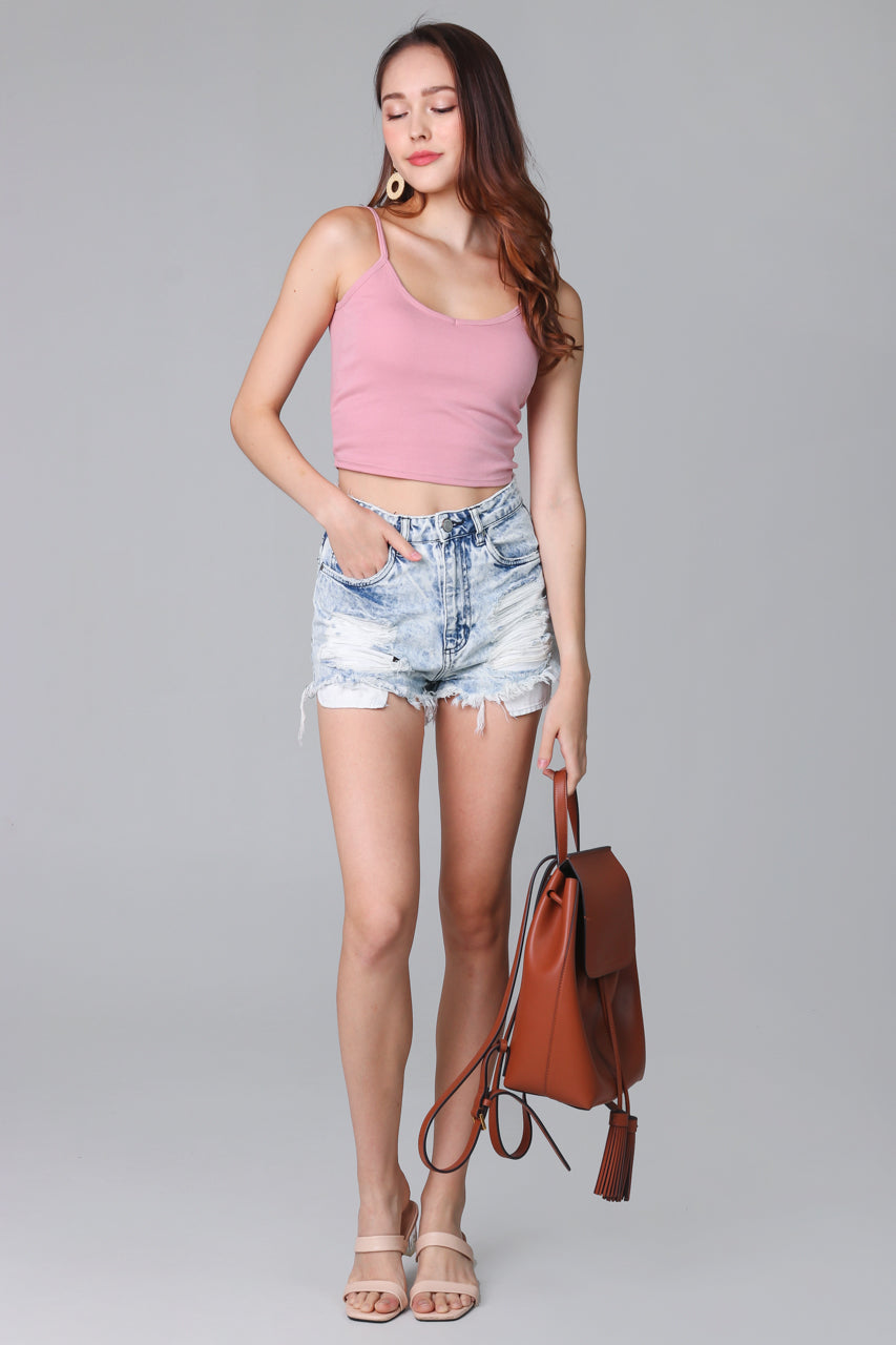 Restocked* Padded Cami Top in Pink