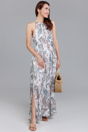 Bohemian Rhapsody Maxi Dress in White
