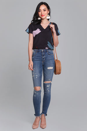 Backorder* Child's Play Top in Black
