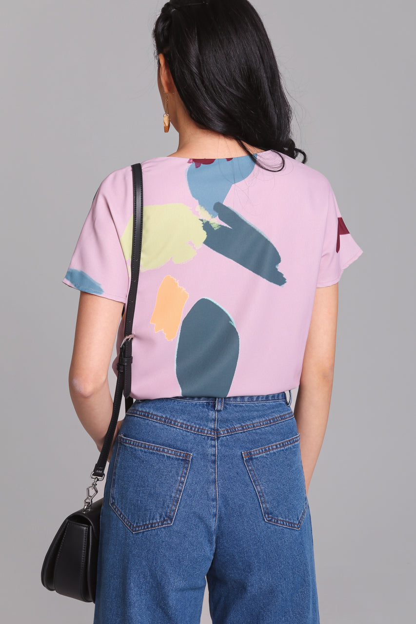 Backorder* Child's Play Top in Mauve