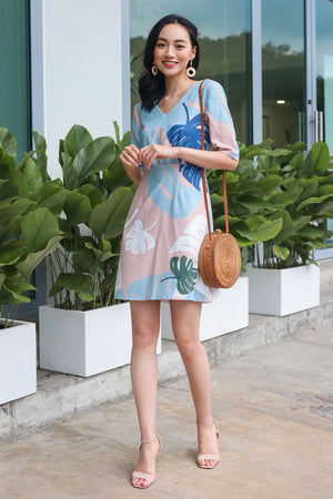 Palm Springs Graphic Dress in Sky