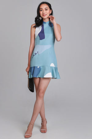 Jestine Oriental Playsuit in Blue