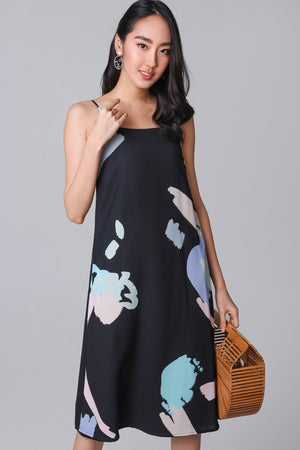 Contemporary Art Dress in Black (Reversible)