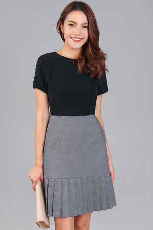 Back To Work Trumpet Dress in Black