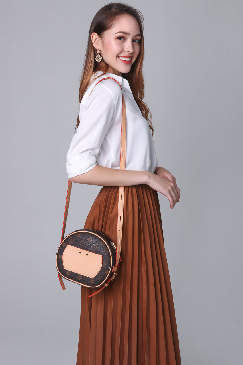 Backorder* Corinne Pleated Skirt in Camel
