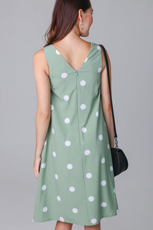Dottie Sash Dress in Pistachio