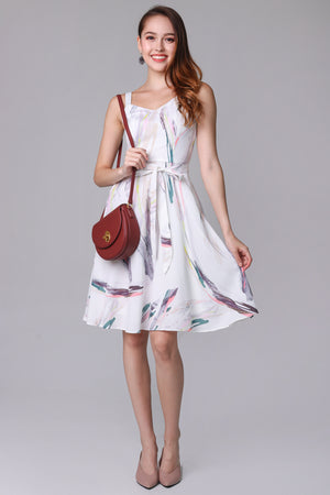 Hopes & Dreams Dress in White (2-Way)