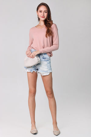 Soft Knit Pullover in Pink