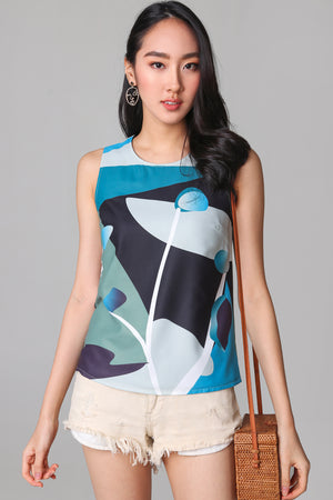 Imagination Tank Top in Blue (Reversible)