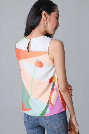 Imagination Tank Top in Apricot (Reversible)