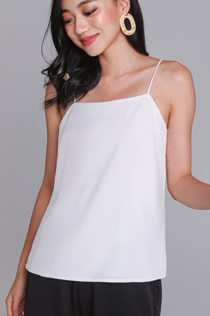 Backorder* Child's Play Cami Top in White (Reversible)