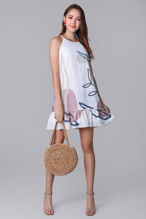 Changing Seasons Cut-In Dress in White