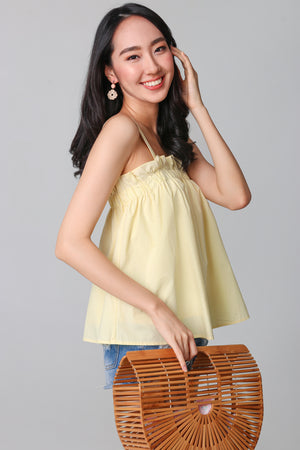 Elize Paperbag Top in Yellow