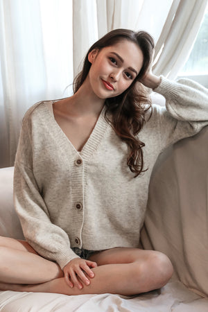 Restocked* Snuggle Up Cardigan in Oatmeal