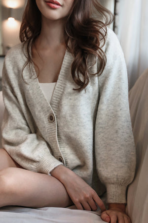 Snuggle Up Cardigan in Oatmeal