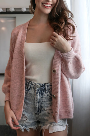 Snuggle Up Cardigan in Pink