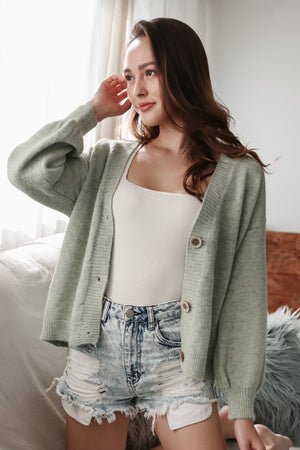 Snuggle Up Cardigan in Sage