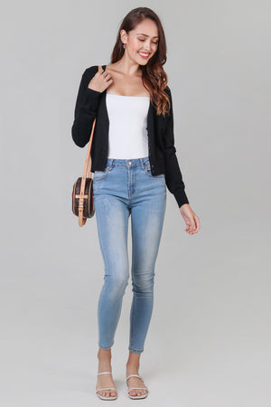 Soft As Clouds Cardigan in Black