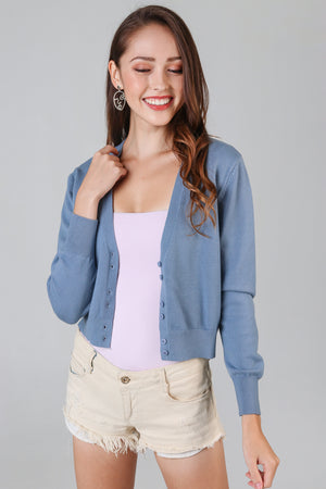 Soft As Clouds Cardigan in Blue
