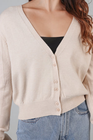 Soft As Clouds Cardigan in Cream