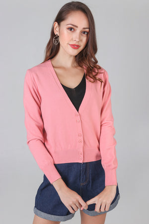 Soft As Clouds Cardigan in Pink