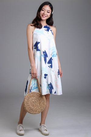 Spring Affair Drophem Dress in Blue