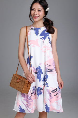 Spring Affair Drophem Dress in Pink