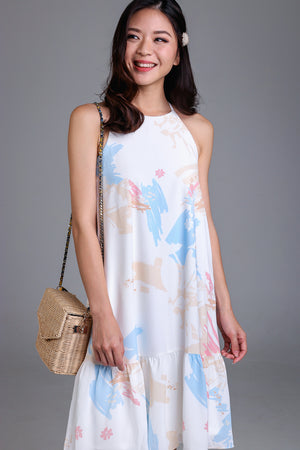 Spring Affair Drophem Dress in Sand