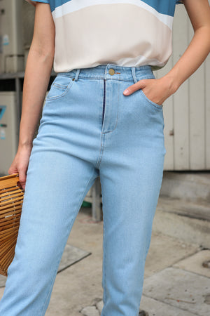 Restocked* Tommie Straight-Cut Jeans in Light Wash